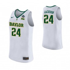 Women's Baylor Bears #24 Chloe Jackson White 2019 Championship College Basketball Jersey