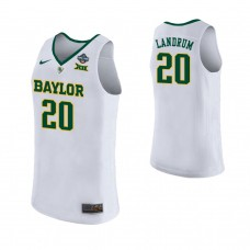 Women's Baylor Bears #20 Juicy Landrum White 2019 Championship College Basketball Jersey