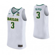 Women's Baylor Bears #3 Trinity Oliver White 2019 Championship College Basketball Jersey