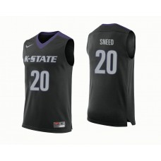 Kansas State Wildcats #20 Xavier Sneed Black College Basketball Jersey