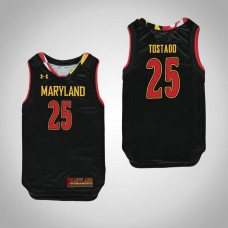 Youth Maryland Terrapins #25 Alex Tostado Black College Basketball Jersey