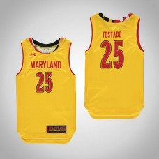 Youth Maryland Terrapins #25 Alex Tostado Replica Yellow Jersey