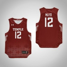 Youth Red Temple Owls #12 Emani Mayo Jersey