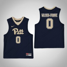 Youth Navy Pittsburgh Panthers #0 Jared Wilson-Frame Jersey