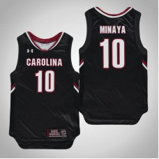 Youth Black South Carolina Gamecocks #10 Justin Minaya Jersey