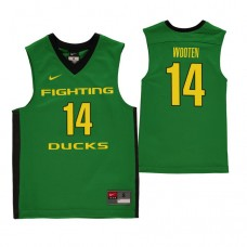 Oregon Ducks #14 Kenny Wooten Green College Basketball Jersey