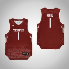 Youth Red Temple Owls #1 Lena Niang Jersey