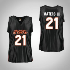 Youth Black Oklahoma St Cowboys #21 Lindy Waters III Jersey