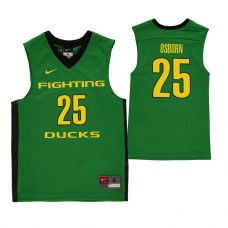 Oregon Ducks #25 Luke Osborn Green College Basketball Jersey