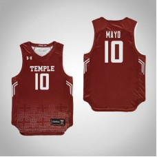 Youth Red Temple Owls #10 Nicolette Mayo Jersey