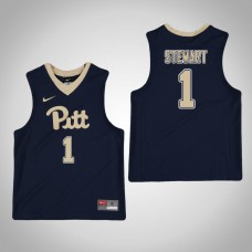 Youth Navy Pittsburgh Panthers #1 Parker Stewart Jersey