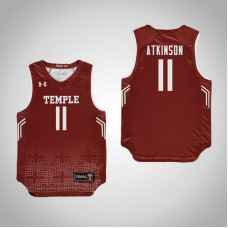 Youth Red Temple Owls #11 Shannen Atkinson Jersey