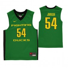 Oregon Ducks #54 Will Johnson Green College Basketball Jersey