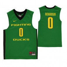 Oregon Ducks #0 Will Richardson Green College Basketball Jersey