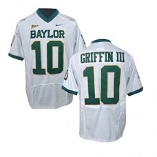 Baylor Bears #10 Robert Griffin III White Authentic College Football Jersey