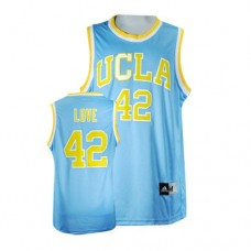 UCLA Bruins #42 Kevin Love Blue Replica College Basketball Jersey