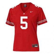 Women's Ohio State Buckeyes #5 Braxton Miller Red Replica College Football Jersey