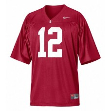 Stanford Cardinal #12 Andrew Luck Red Authentic College Football Jersey