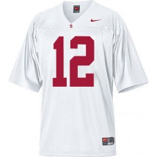 Stanford Cardinal #12 Andrew Luck White Authentic College Football Jersey