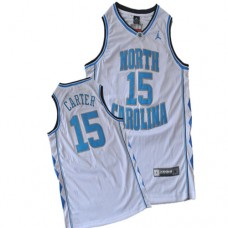 North Carolina #15 Vince Carter White Authentic College Football Jersey