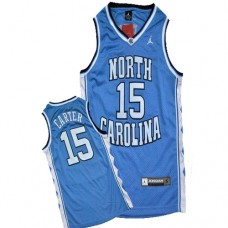 North Carolina #15 Vince Carter Blue Authentic College Football Jersey