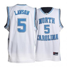 North Carolina #5 Ty Lawson White Authentic College Football Jersey