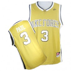 Wake Forest Demon Deacons #3 Chris Paul Gold Authentic College Basketball Jersey