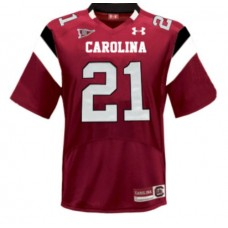 Under Armour South Carolina Gamecocks #21 Marcus Lattimore Red Authentic College Football Jersey