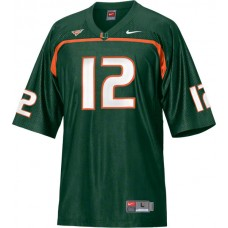 Miami Hurricanes #12 Jacory Harris White Authentic College Football Jersey