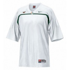 Miami Hurricanes Blank White Replica College Football Jersey