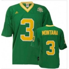 Kid's Notre Dame Fighting Irish #3 Joe Montana Green Replica College Football Jersey