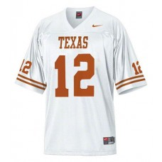 Texas Longhorns #12 Colt McCoy White Replica College Football Jersey