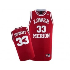 Lower Merion #33 Kobe Bryant Red Authentic College Basketball Jersey