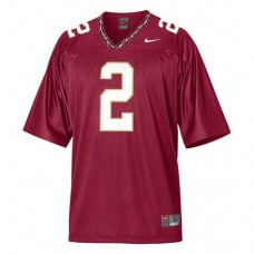 Kid's Florida State Seminoles #2 Deion Sanders Red Authentic College Football Jersey