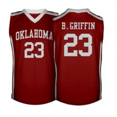 Oklahoma Sooners #23 Blake Griffin Red Authentic College Basketball Jersey