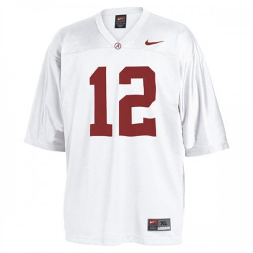 Alabama Crimson Tide #12 Joe Namath White Authentic College Football Jersey