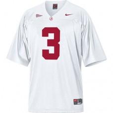 Alabama Crimson Tide #3 Trent Richardson White Authentic College Football Jersey