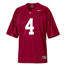 Alabama Crimson Tide #4 Marquis Maze Red Authentic College Football Jersey