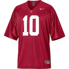 Alabama Crimson Tide #10 AJ McCarron Red Authentic College Football Jersey