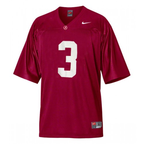 Alabama Crimson Tide #3 Trent Richardson Red Authentic College Football Jersey