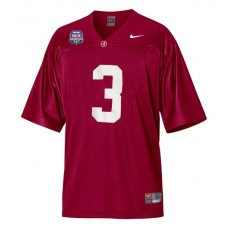 Alabama Crimson Tide #3 Trent Richardson Red Authentic With 2012 BCS Championship Patch College Football Jersey