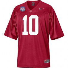 Alabama Crimson Tide #10 AJ McCarron Red Replica With 2012 BCS Championship Patch College Football Jersey