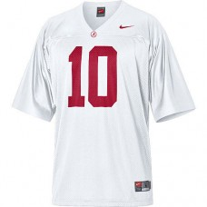 Alabama Crimson Tide #10 AJ McCarron White Authentic College Football Jersey