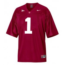 Alabama Crimson Tide #1 Nick Saban Red Authentic College Football Jersey