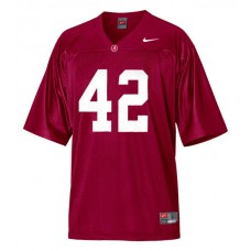 Kid's Alabama Crimson Tide #42 Eddie Lacy Red Authentic College Football Jersey