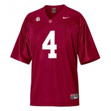 Alabama Crimson Tide #4 T.J Yeldon Red With 2012 SEC Patch Authentic College Football Jersey