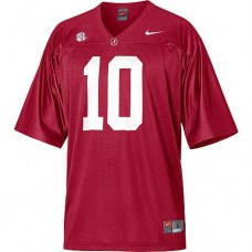 Alabama Crimson Tide #10 AJ McCarron Red With 2012 SEC Patch Replica College Football Jersey