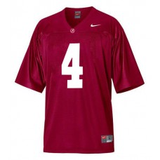 Kid's Alabama Crimson Tide #4 T.J Yeldon Red Authentic College Football Jersey