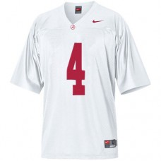 Kid's Alabama Crimson Tide #4 T.J Yeldon White Replica College Football Jersey