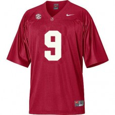 Kid's Alabama Crimson Tide #9 Amari Cooper Red With SEC Patch Authentic College Football Jersey